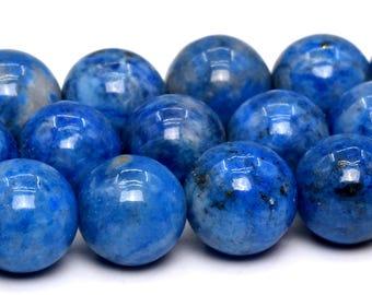 "8MM Lapis Lazuli Beads Rare Aqua Blue Genuine Afghanistan Lapis Grade AAA Natural Gemstone Beads 15"" BULK LOT 1,3,5,10 and 50 (101846-420)"