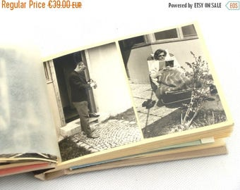 SALE 20% off Vintage Two Photo Albums with Photos 50s and 60s, Black and white photos, Retro album, Set Album Photos