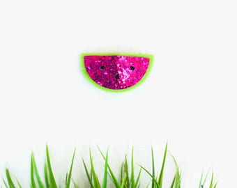 Watermelon Felt Snap Clip