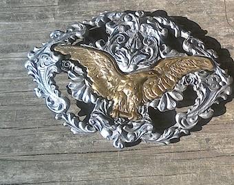 Pewter Eagle Vintage Belt Buckle