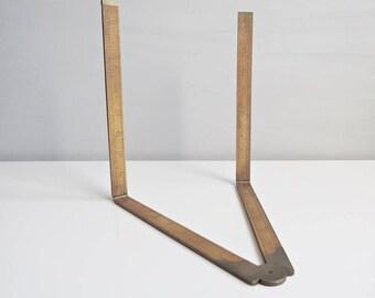 Vintage Rabone Boxwood and Brass 36 Inch Folding Ruler Number 1380 - Rabone Ruler