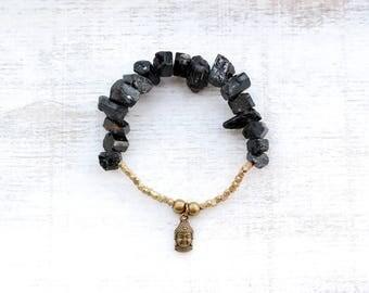 Black Tourmaline Bracelet with Buddha