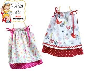 Easy Beginner Dress Pattern. Sewing Patterns for Girls. Toddler Dress. Digital sewing patterns for Kids. Girls Dress Sewing Pattern. Sierra