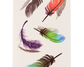 PRE-ORDER / Feathers Tattoo Sheet - 1 Pc