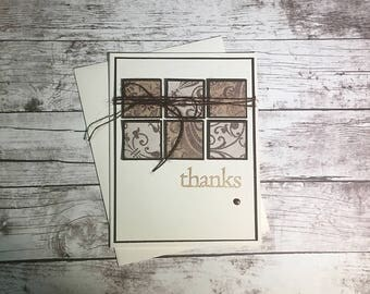 Elegant Thank You Card - Thanks