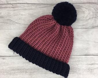 Pure wool knitted hat, merino wool, woollen hat, knitted beanie hat, matching parent child hat, baby hat, twins gift, triplet gift, etsyuk