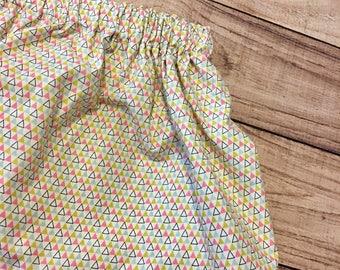 girls fall skirt, gorls geometric skirt, fall skirt, baby fall skirt, olive and pink skirt