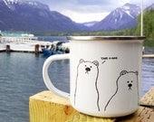 Bears Metal Camp Mug | Get Lost | Take A Hike | Wanderlust | Camping Mug | Campfire Mug | RV Decor | RV Accessories | Mama Bear