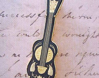 Handsome Vintage Italian Violin Brooch