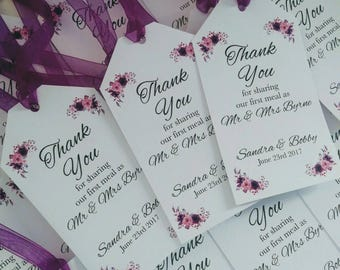 20 x Thank You Meal Tags