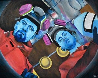 Acrylic Painting Breaking Bad Walter White and Jessie Pinkman Cooking