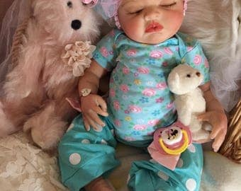 Completed Reborn Baby Doll Claire From the Londyn Kit  20 inch Completed Doll with Magnetic Pacifier