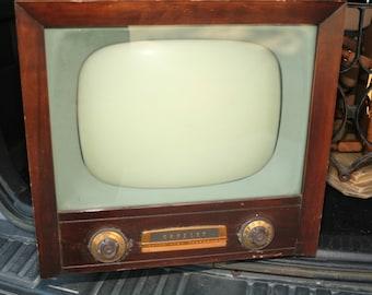 Vintage 1950's Crosley Television, Set Design, Old Working TV, Mahogany, Photography Prop, Rare TV, Escape Room