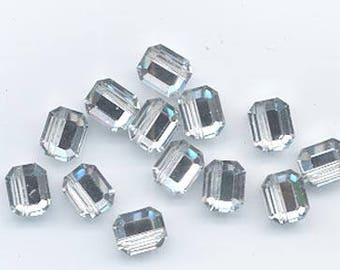 12 amazingly rare vintage Swarovski crystal beads -- Art. 367/5106 - 8 x 6.5 mm - crystal comet argent light
