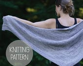 FLASH SALE knitting pattern knit spring textured shawl - the guidance shawl