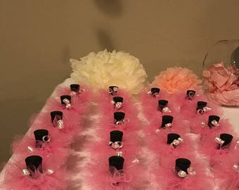 5 Tutus 7.27 & FREE domestic shipping/ Baby shower favors /Engagement/Gender reavealing party favors/Baby shower /Weddings