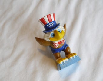 Vintage Olympic Games Los Angeles 1984 Sam the Eagle PVC Toy