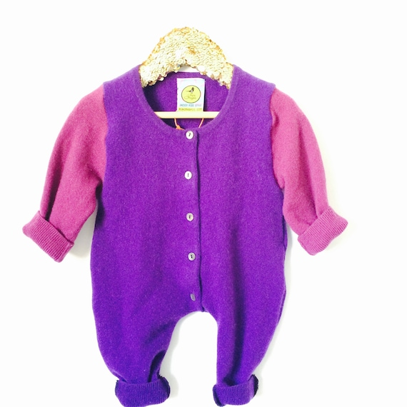 SLEEP 0-3m Baby Onesie Jumpsuit One Piece Jumper Romper Playsuit in Upcycled Unisex MH