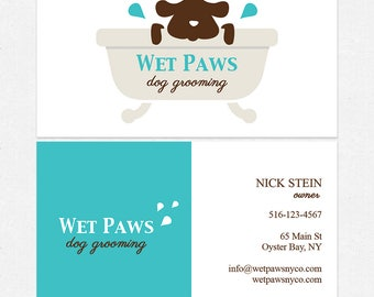 dog grooming business cards - thick - FREE UPS ground shipping