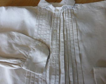 100% Pure Linen, Nightshirt nightgown Mans Antique French  Circa late 1800's