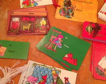vintage christmas gift tag mixed lot of 175 pieces unused