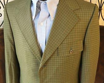 Vintage 1960's Flap Pocket Trad Jacket Hart Schaffner Marx 40R