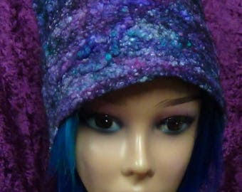 Felted hat, Cute, summer, hat, hand made, in USA, Organic, Fairy hat, wearable art, costume art, fantasy hat, whimsical hat, gift