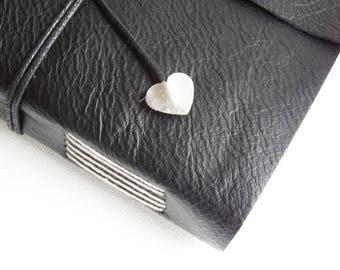 Black Leather Wrap Journal, Blank Book, Memory Book, Leather Hand Bound Notebook, Leather Sketchbook, Mindfulness Journal, Bucket List