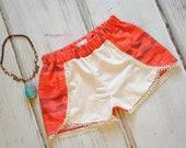Moana Inspired Shorts - Island Princess - Coachella Shorts - Princess Outfit - Princess Shorts - MoanaOutfit - Moana Birthday Outfit