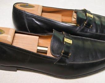 Vintage Ferragamo Mens Leather  Size 13D