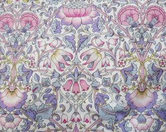 LIBERTY Of LONDON Tana Lawn Cotton Fabric  'Lodden' Lavender/Pink William Morris