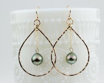Leilani Tahitian Pearl Earrings