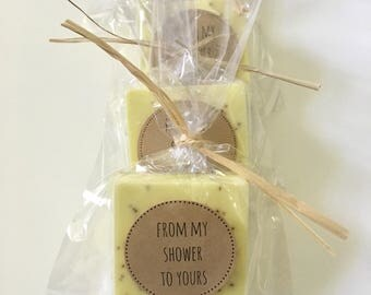 Yellow Wedding Favors: Soap favors, customized soap favors, gold wedding favors, spring wedding favors, soap