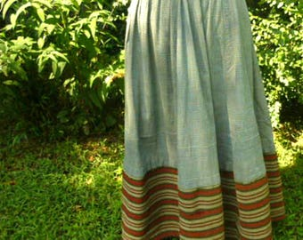 1890's to 1920's Cotton Everyday Work Skirt