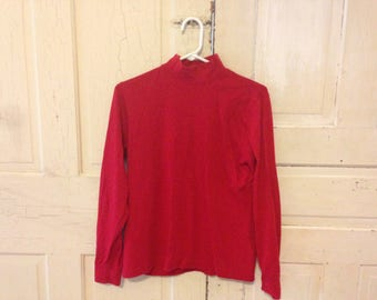 Red turtleneck - size SMALL
