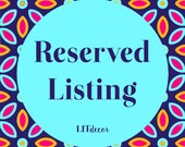 Reserved Listing for Shannon