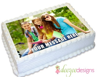 A4 Edible Icing Cake Topper using your own Photo - EI079A4