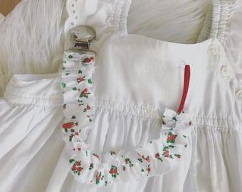 Paficier Clip/ red rose dummy clip/ Nylon baby headbands / Newborn Baby Girl Gift/ summer photo prop/ Toddler Set/ strawberry picking baby