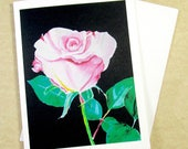 Rose Note Cards, Blank Rose Note Card Set, Rose Greeting Cards, Note Cards with Rose, Rose Lovers Cards, Rose Blank Cards, Set of Cards