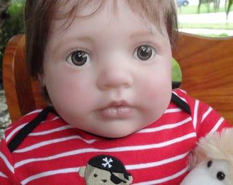 "Reborn Chubby Baby Boy ""Lennon"" from Lillian sculpt -ready to ship!"