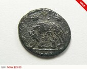 Authentic Ancient Roman coin, Romulus and Remus, Urbs Roma, 330-346 AD, Commemorative coin, bronze patina (c4171)