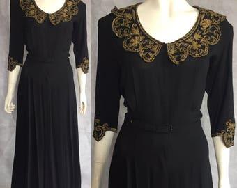 1930s 1940s evening dress / formal dress