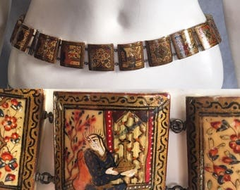 Early 20th century Persian story belt 1910s 1920s