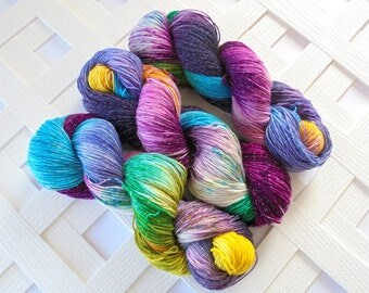 Handdyed Speckled Yarn, BOUQUET Sock Yarn, Merino Yarn, Indie-Dyed Yarn, Speckled Yarn, Sock Yarn Knit, Gift for Knitter, Superwash Merino