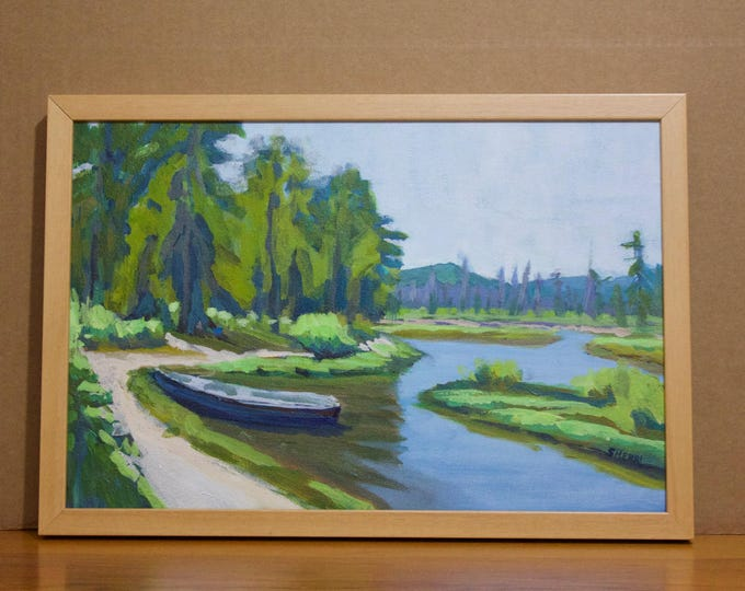 Landscape Painting The Resting Place East Davis Lake CG Oregon Sherri McDowell Artist Oregon by heART Central Oregon Art