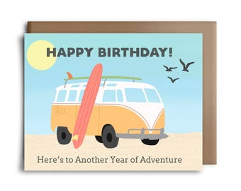 Happy Birthday! Here's to Another Year of Adventure Greeting Card