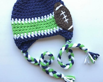 Team Inspired Crocheted Hat | Brown Football Hat