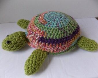Green Turtle Floor Mop, drip catcher, floor cleaner turtle, house warming gift, crochet kitchen turtle