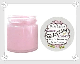 100% Organic ROSEHIP & COCONUT OIL Face Cream Cleanser Makeup Remover and Facial Cleanser Chemical Free