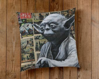 Decorative Pillow of Yoda from Star Wars